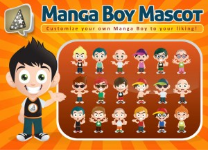 Manga Boy Mascot Preview